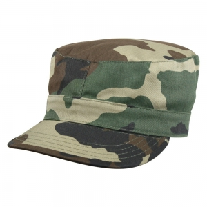 Кепка Rothco® - Woodland Camo Rip-Stop Fatigue Caps